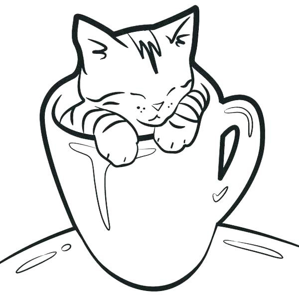 600x592 Inspirational Coloring Pages Kittens Printable Cute Cat Coloring