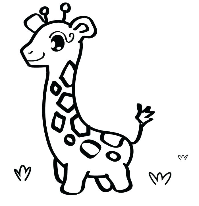 700x723 Coloring Pages Cute Animals Giraffes Coloring Pages Baby Giraffe