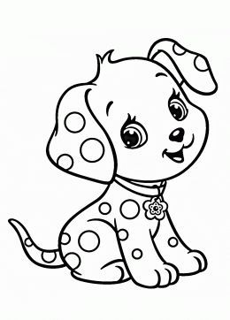 260x362 Cartoon Puppy Coloring Page For Kids, Animal Coloring Pages