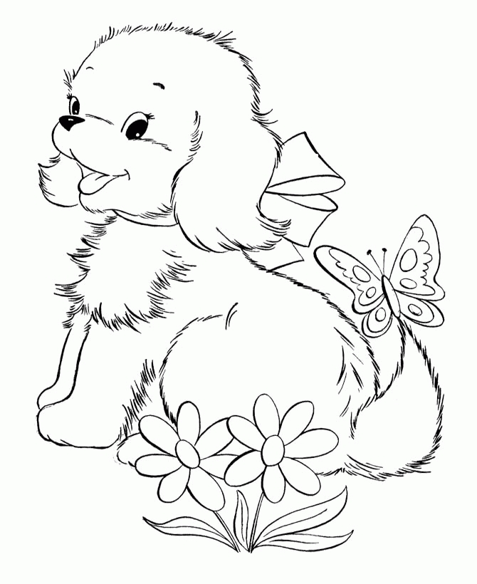 Free Coloring Pages Of Kittens And Puppies