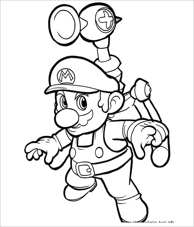 680x794 Free Mario Coloring Pages Also Coloring Pages Free Coloring Pages