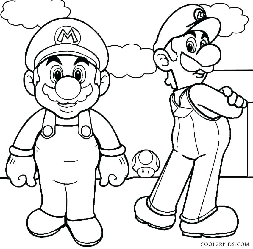 850x835 Super Mario Coloring Page Free Bros Coloring Pages For Kids
