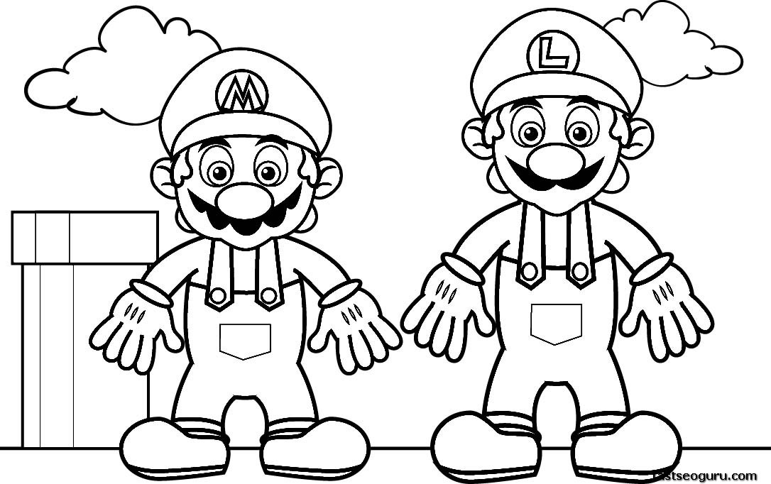 1086x682 Free Printable Mario Coloring Pages Printable Coloring Sheets
