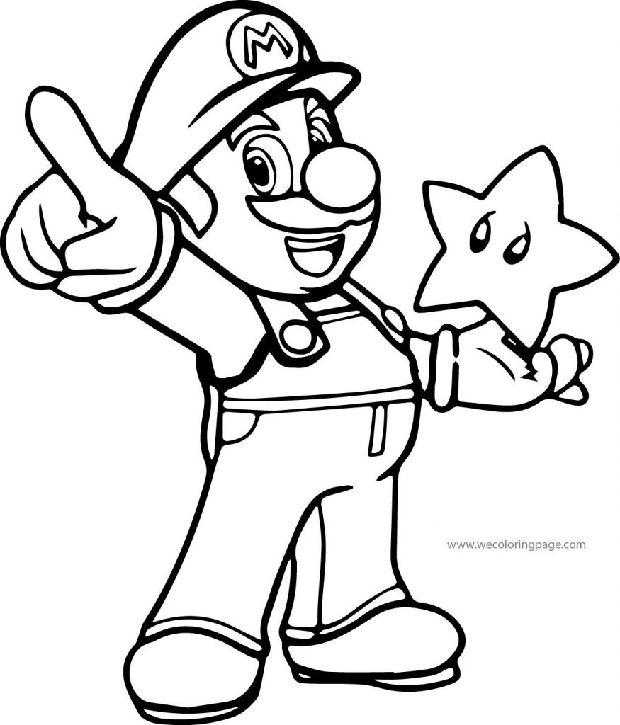 875x1024 Coloring Pages Super Mario