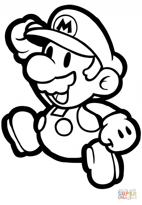 580x834 Colorings Paper Mario Coloring Page Free Printable Coloring Pages