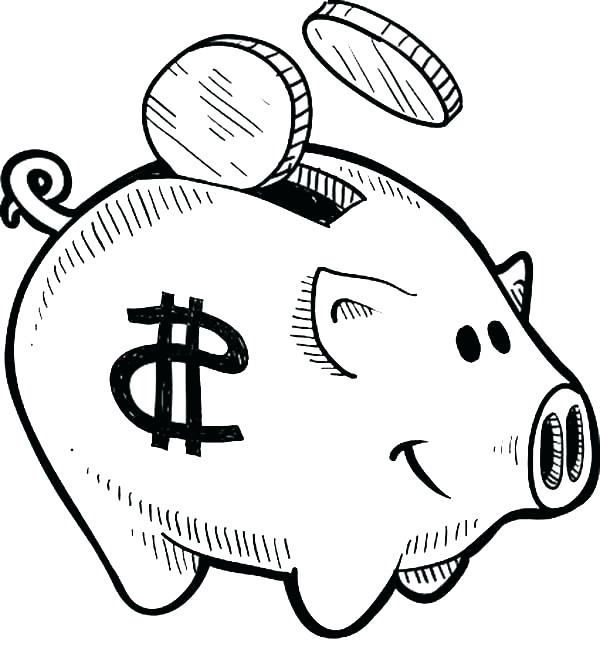 600x667 Coloring Pages Of Money Money Coloring Sheets Clip Arts Related