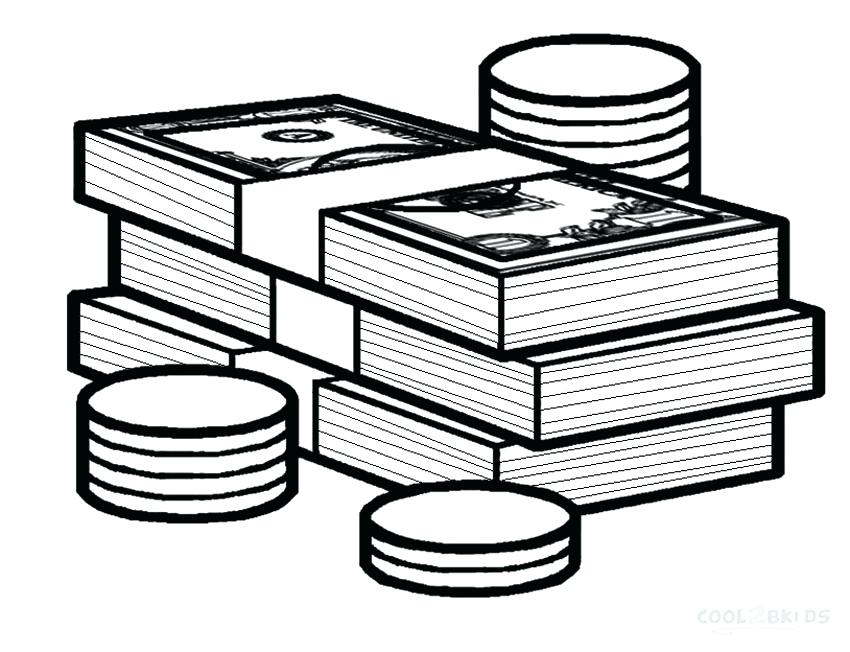 850x652 Free Printable Money Coloring Sheets Printable Coloring Printable