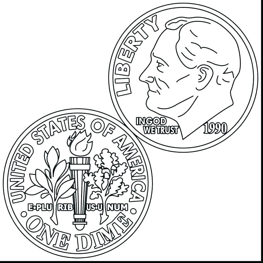 863x863 Coin Coloring Pages Coin Coloring Pages Amazing Coin Coloring Page