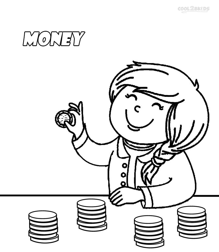 850x979 Printable Money Coloring Pages For Kids