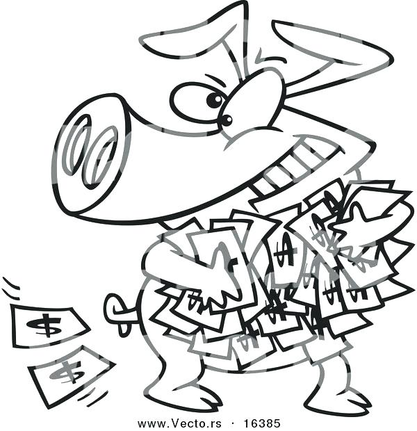 600x620 Coloring Pages Of Money