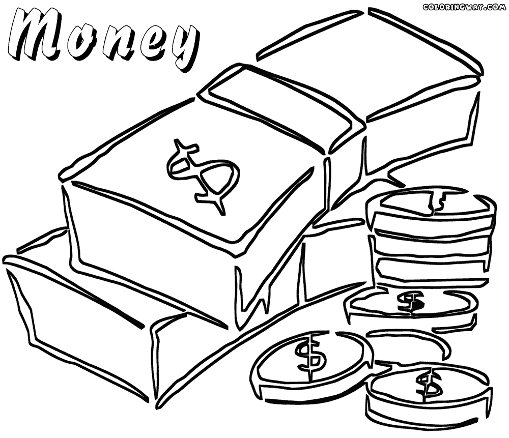 1000x861 Coin Coloring Pages Unique Money Coloring Pages To Print Coloring