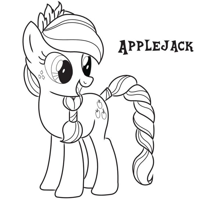 700x700 My Little Pony Coloring Page