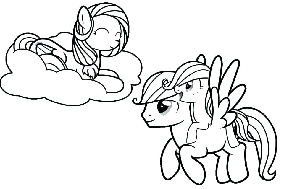 960x640 Coloring Pages My Little Pony