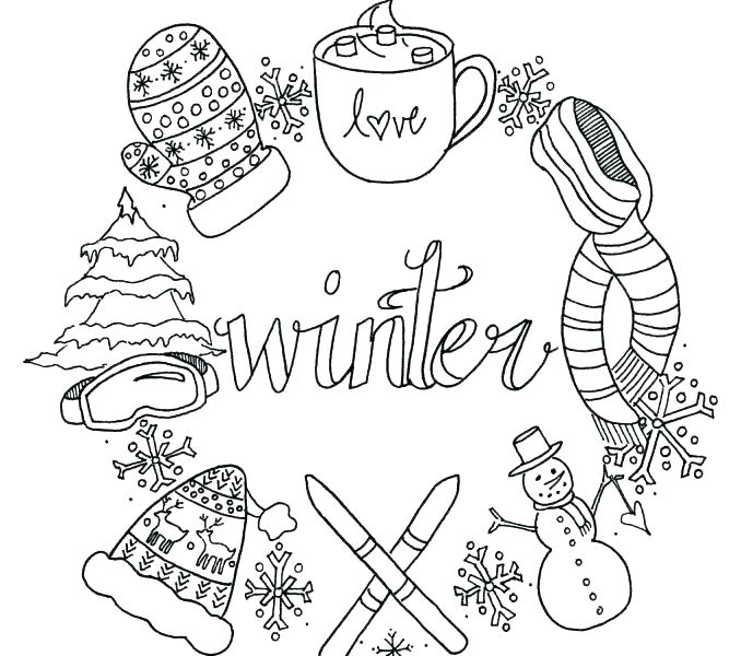Free Coloring Pages Of Winter At Getdrawings Free Download