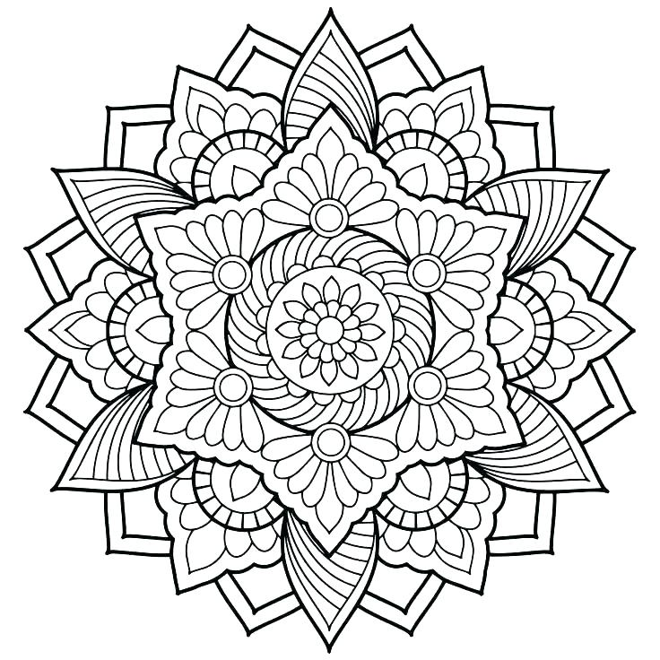 736x736 Animal Mandala Coloring Pages