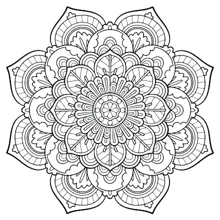 440x440 Adult Free Coloring Pages Printable Mandala Coloring Pages
