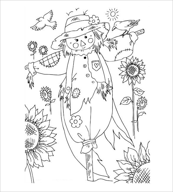 585x650 Autumn Coloring Pages Free Word, Pdf, Png Format