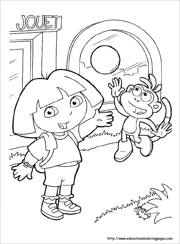 585x794 Dora Coloring Pages Free Printable Word, Pdf, Png