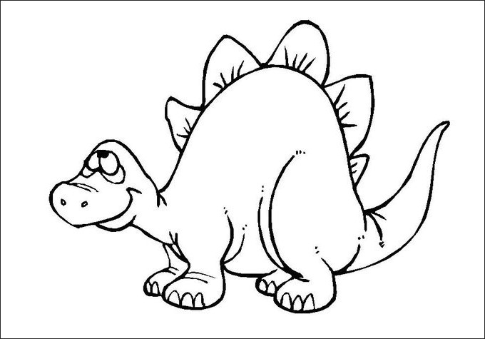 680x475 Dinosaur Coloring Pages