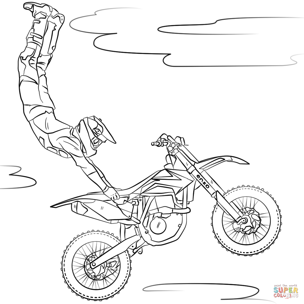 The best free Motorbike coloring page images. Download ...