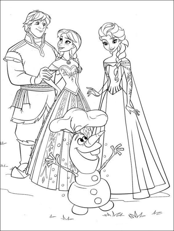 600x794 Kids Coloring Pages Free Printable Frozen Tags For Food