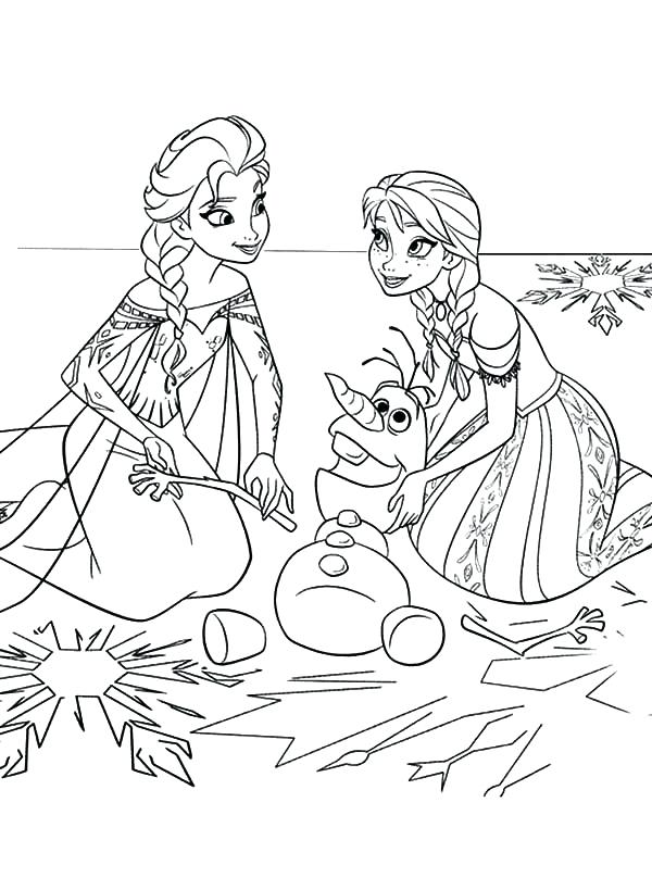 600x819 Crafty Design Ideas Elsa And Anna Coloring Pages Printable Frozen