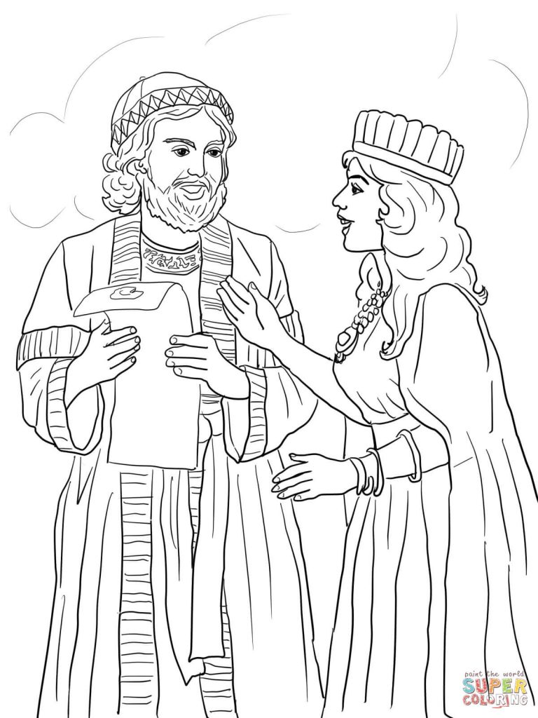 768x1024 Esther Coloring Page