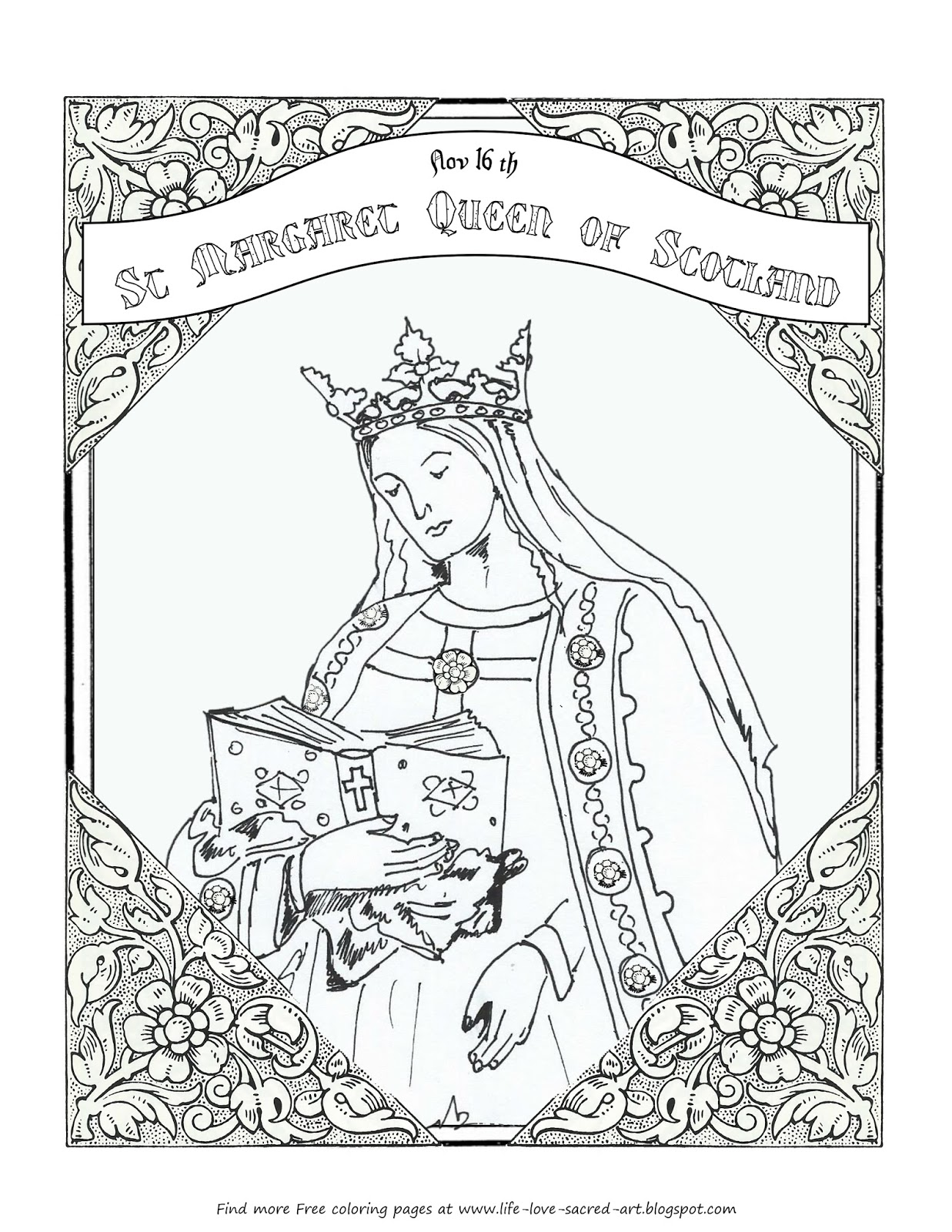 1237x1600 Life, Love, Sacred Art Free Coloring Page For St Margaret