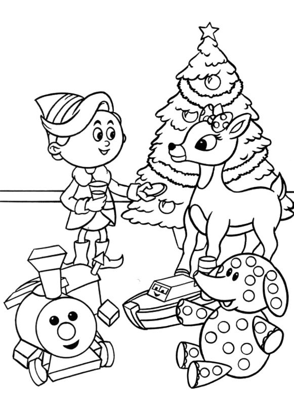 Free Coloring Pages Reindeer