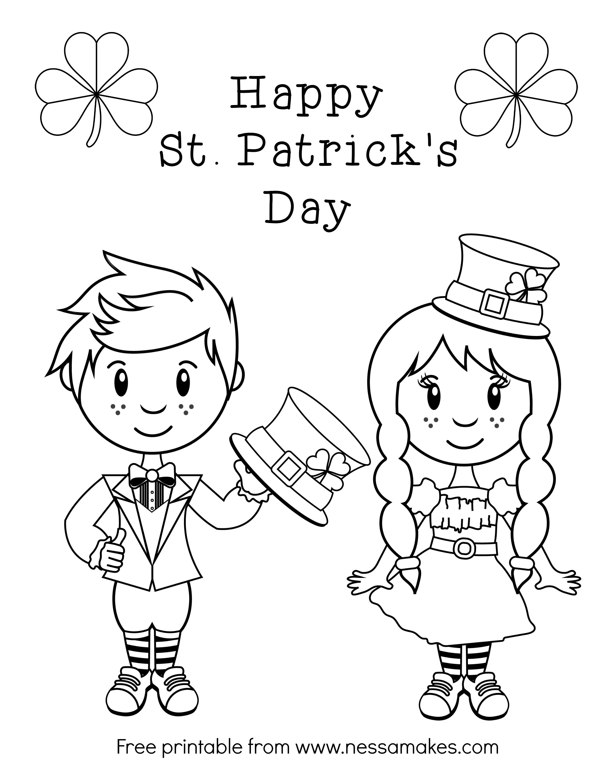 Free Coloring Pages St Patricks Day At Getdrawings Com Free For