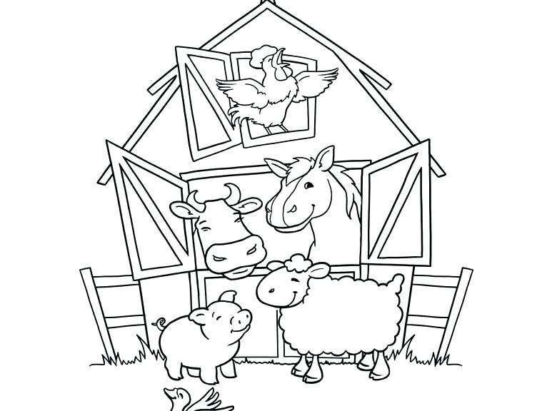 773x576 Farm Color Pages Farm Animal Coloring Page Color Online Free Farm