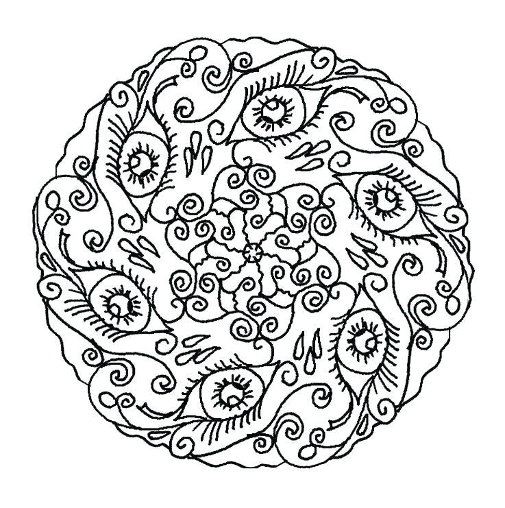 737x741 Mandala Online Coloring Pages Mandala Coloring Online Coloring