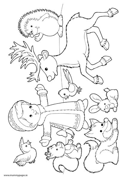 422x597 Coloring Pages Of Winter Animals
