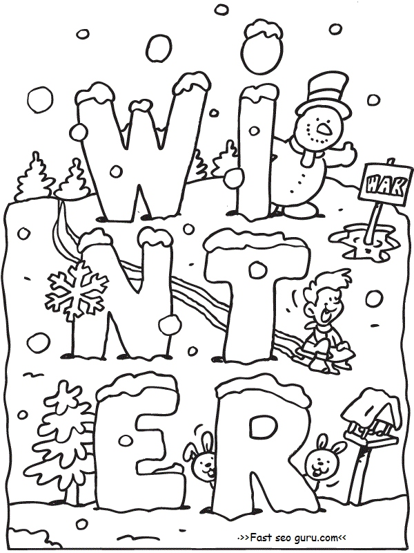 600x800 Free Winter Coloring Pages New Printable Winter Coloring Pages