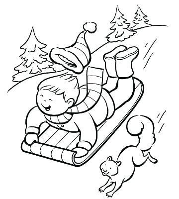360x400 Printable Winter Scenes Free Printable Winter Scenes To Color