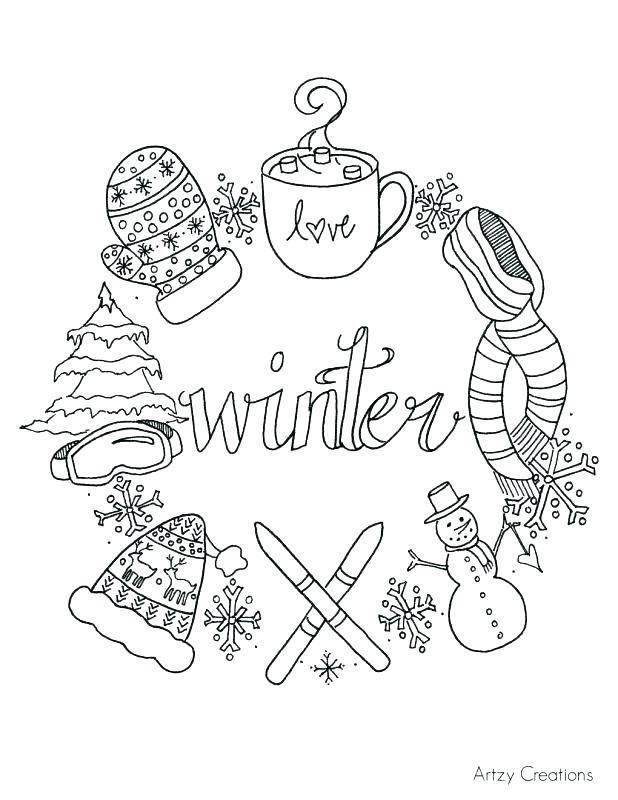 618x800 Winter Coloring Pages Free Free Winter Coloring Pages Nice Ideas