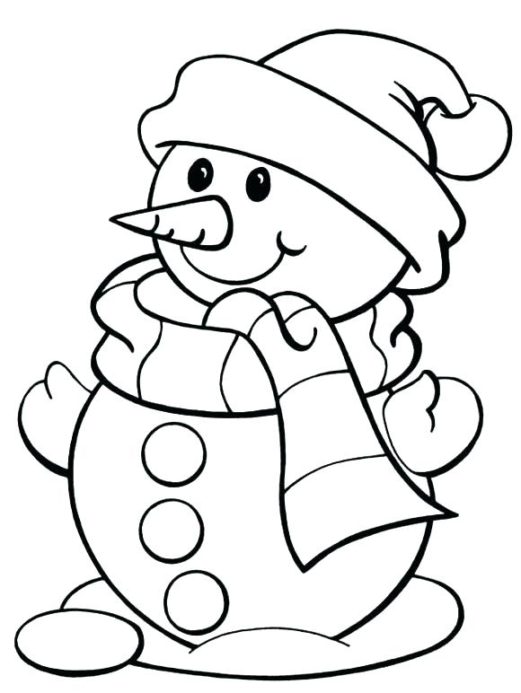 580x772 Winter Pictures To Color Free Coloring