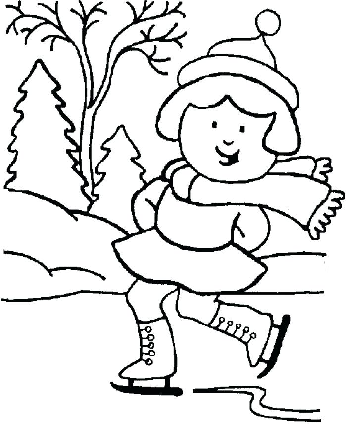 699x874 Winter Scene Coloring Pages Winter Scene Coloring Sheet And Winter