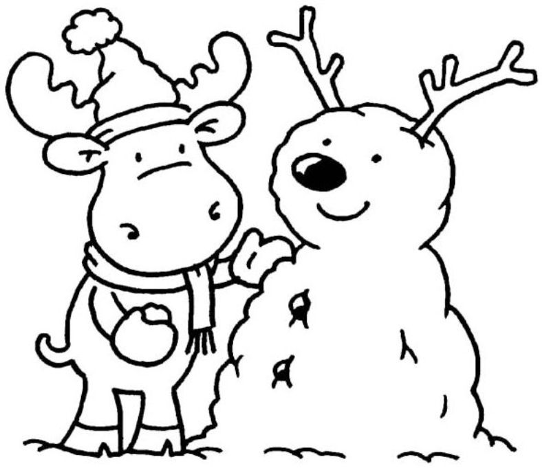 788x681 Winter Color Pages Free Printables Printable Winter Coloring Pages