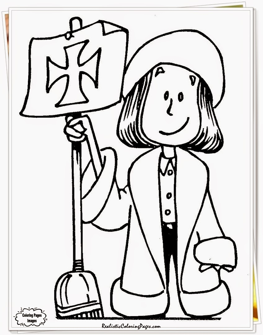 Free Columbus Day Coloring Pages