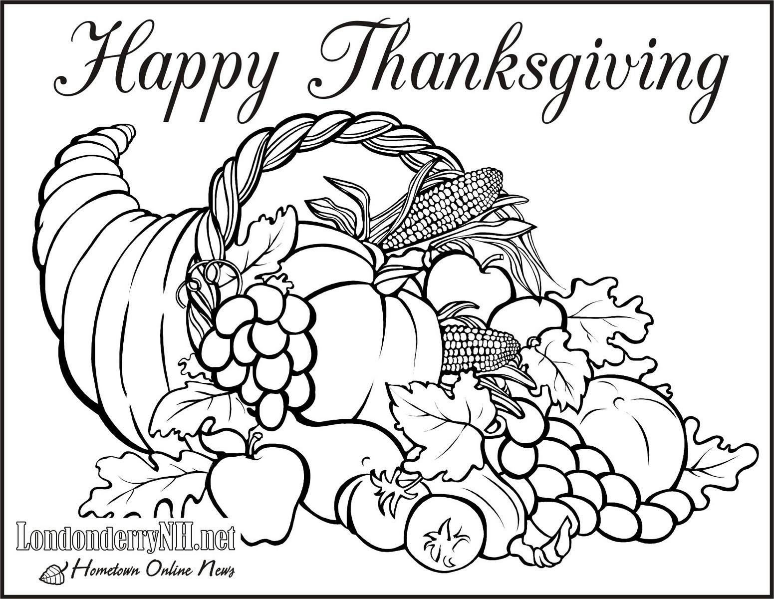 graphic relating to Cornucopia Coloring Pages Printable identify No cost Cornucopia Coloring Internet pages at  No cost for