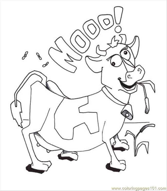 Free Cow Coloring Pages at GetDrawings.com | Free for personal use ...