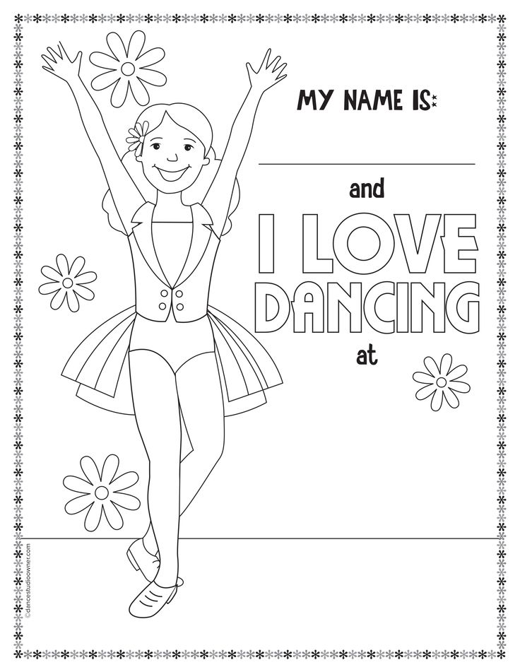 736x951 Dance Coloring Pages Printable I Love Dance Coloring Pages
