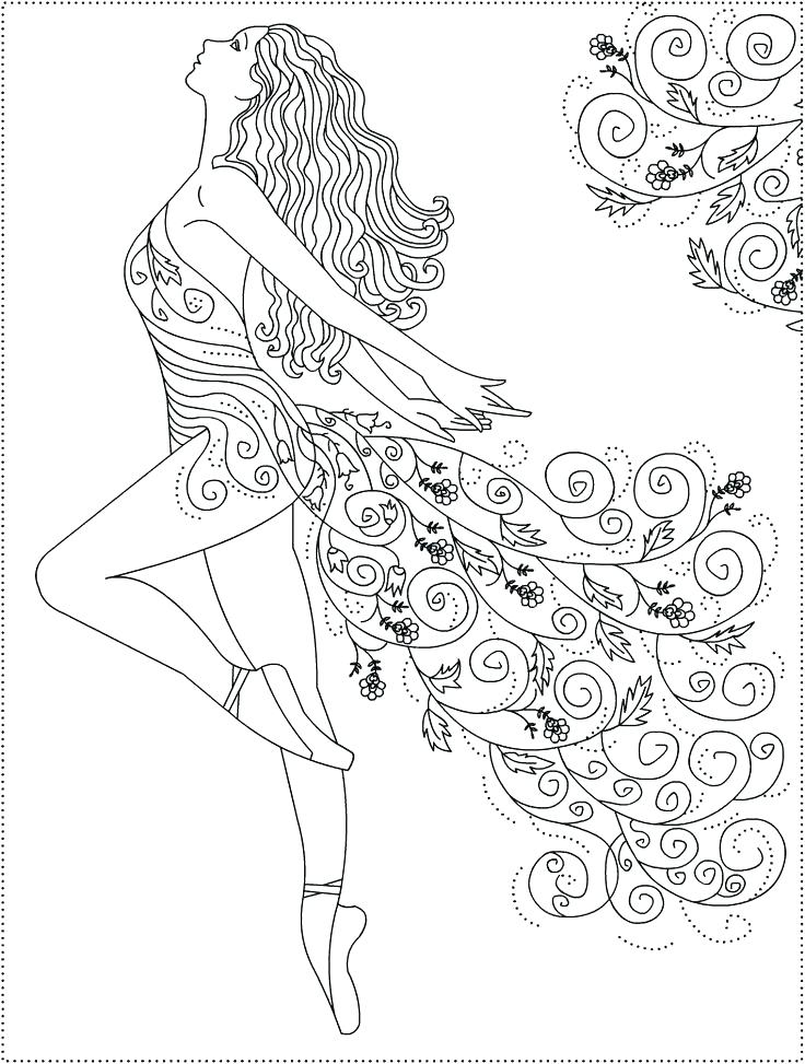 736x973 Dancer Coloring Pages