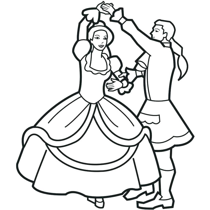 842x842 Dance Coloring Pages Ballerina With Ponytail Coloring Page Dance