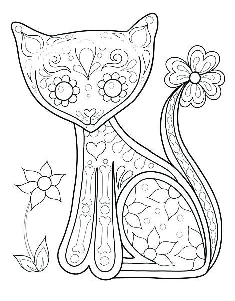 Free Day Of The Dead Coloring Pages At Getdrawings Com