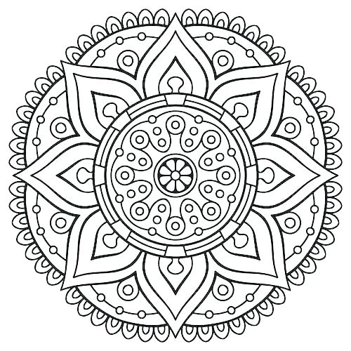 500x500 Free Adult Coloring Pages Mandala Coloring Pages Adults Free Kids