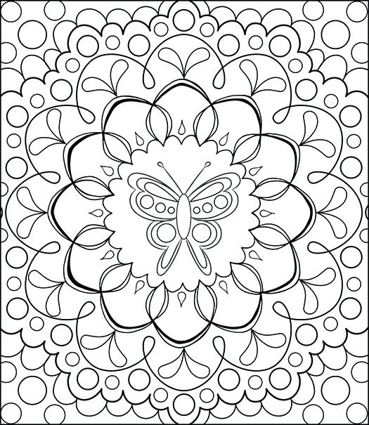 525x605 Detailed Coloring Page