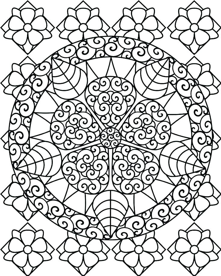 Free Difficult Coloring Pages