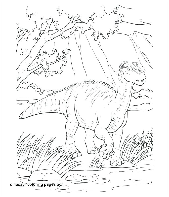 680x794 Dinosaurs Coloring Pages Pdf Free Dinosaur Coloring Pages Free T